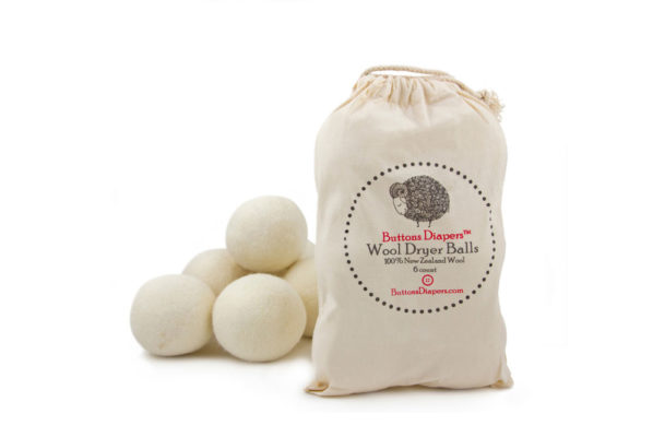 Buttons Diapers Wool Dryer  Balls