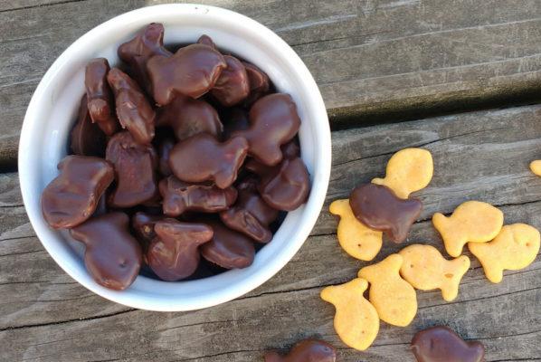 DIY Chocolate Dipped Goldfish