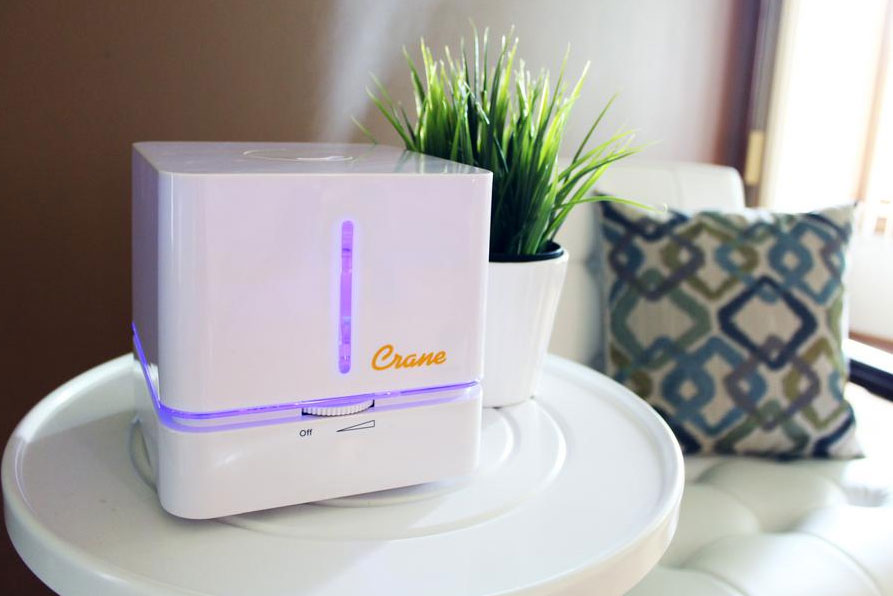 Crane Personal Cube Ultrasonic Cool Mist Humidifier