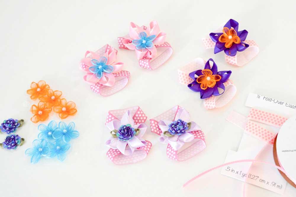 Adorable baby flower barefoot sandals DIY craft
