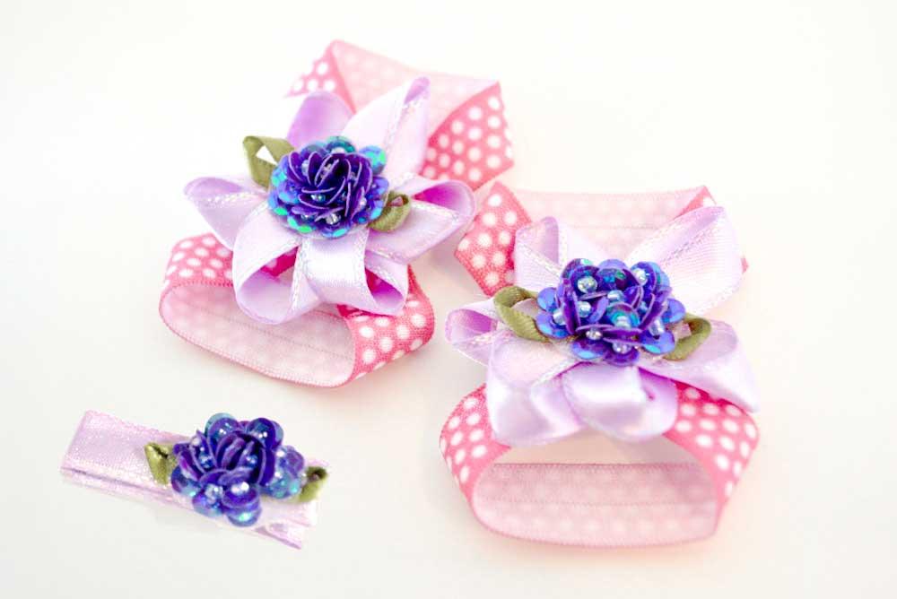 DIY craft baby flower barefoot sandals