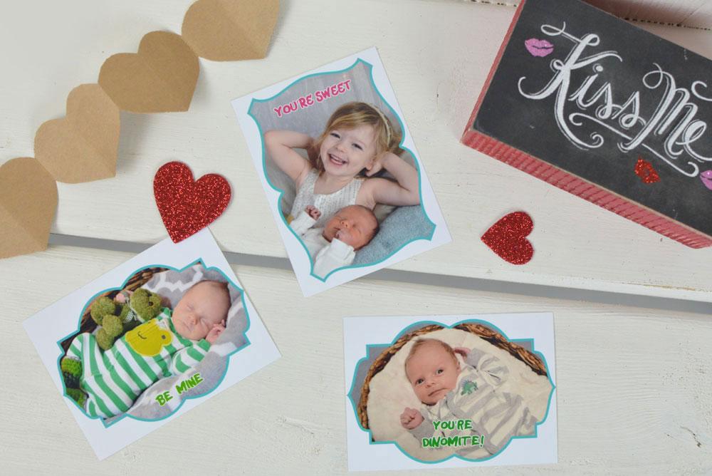 DIY Kids' Photo Valentines + Printables