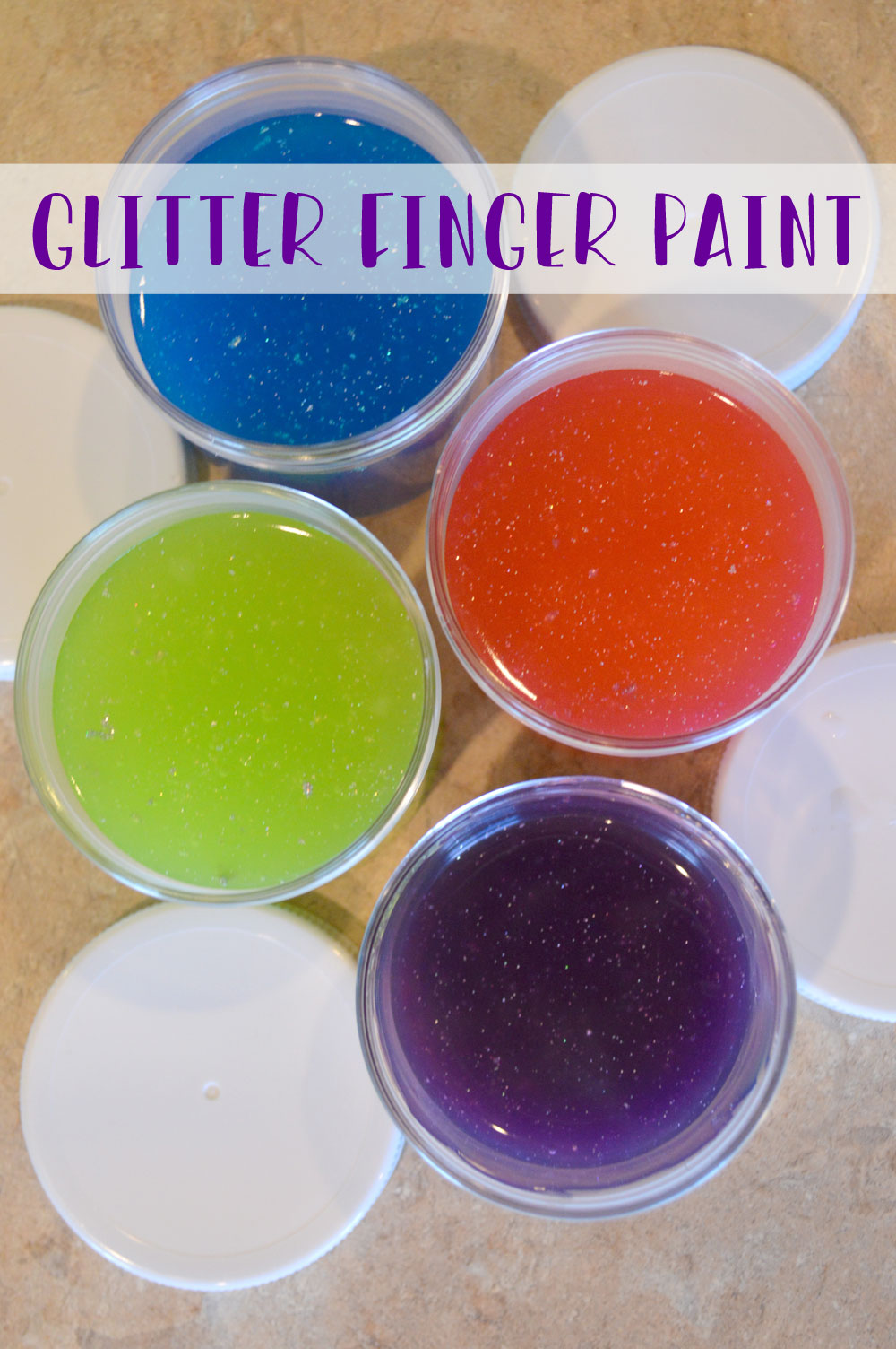 How to make your own glitter finger paint for kids