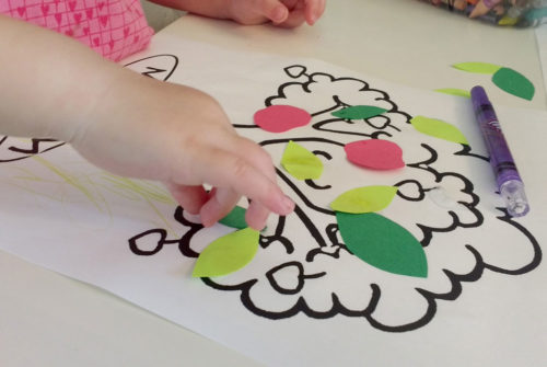 Apple tree kid's craft and coloring page - Mommy Scene