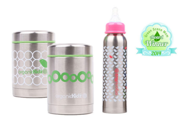 organicKidz Thermal Baby Bottles & Food Containers
