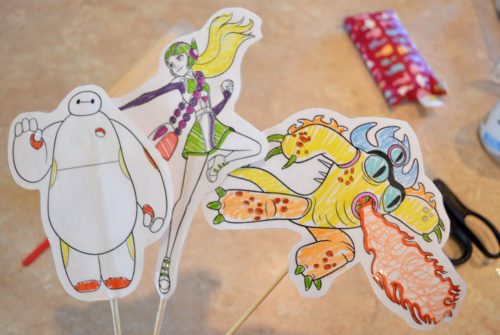 DIY Paper Baymax Character Puppets - Mommy Scene