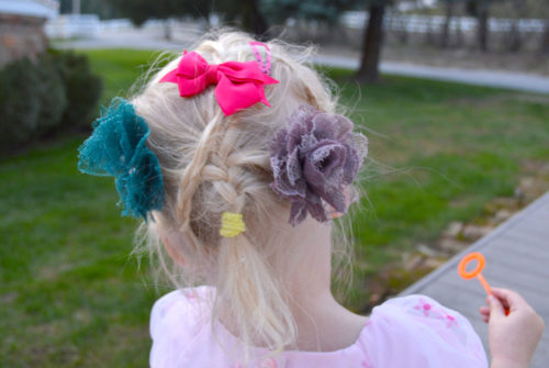 Rock the Locks cute little girl's hairstyle with braids - Mommy Scene