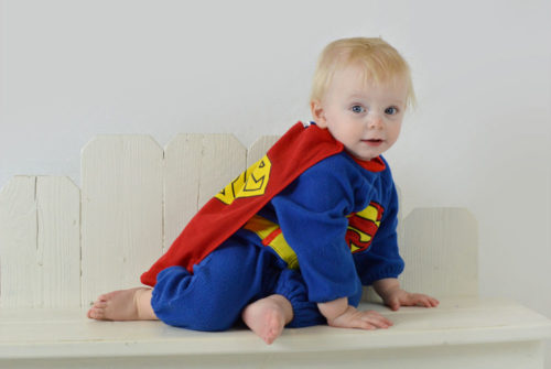 Motor skill activities for babies, baby boy superhero outfit - Mommy Scene