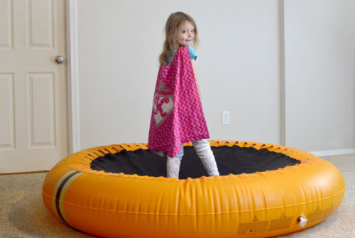 The Shrunks Bouncer Pool kids trampoline activity - Mommy Scene review