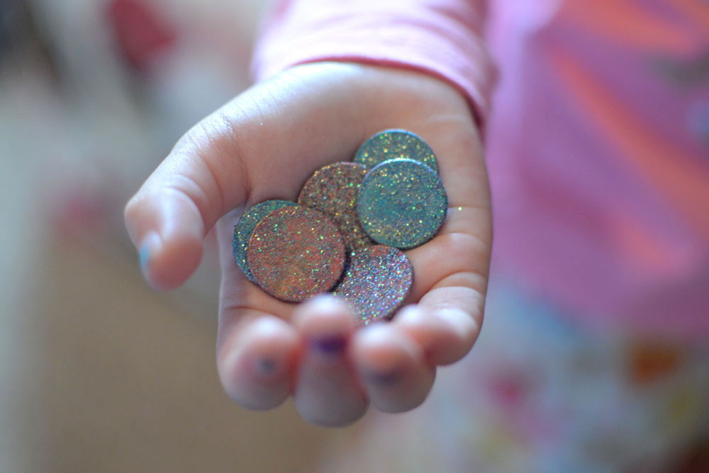Glittery DIY Tooth Fairy Coins