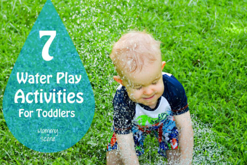 7 Water Play Activities For Toddlers - Mommy Scene - Child Getting Sprayed With Water