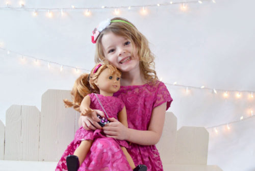 American Girl Matching Holiday Dresses for doll and girl - Mommy Scene review