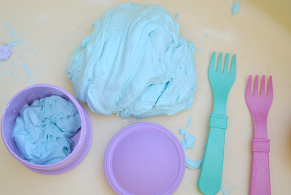 Sensory Glitter Cloud Dough Kids' Activity