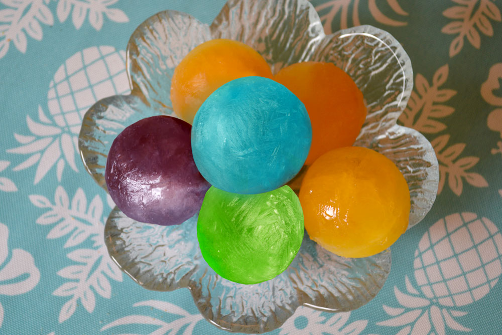 Easy colorful ice balls with otter pops
