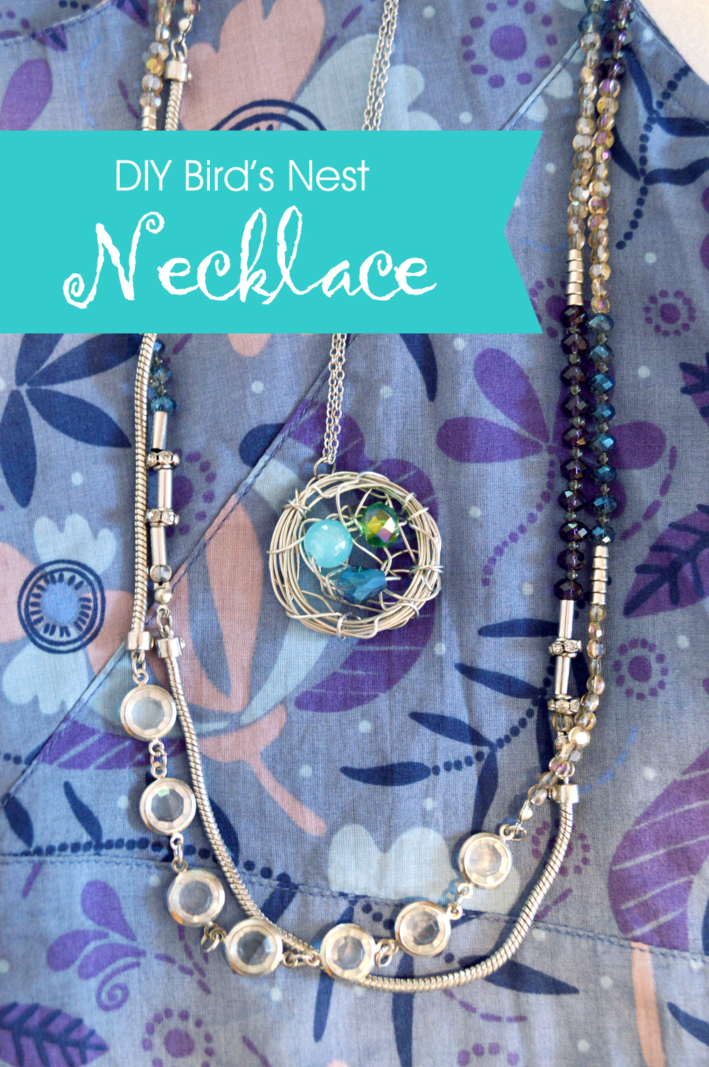 How to make a beautiful customized bird's nest necklace