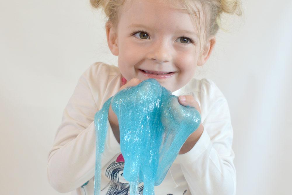 Liquid Sensory Glitter Slime (No Borax)