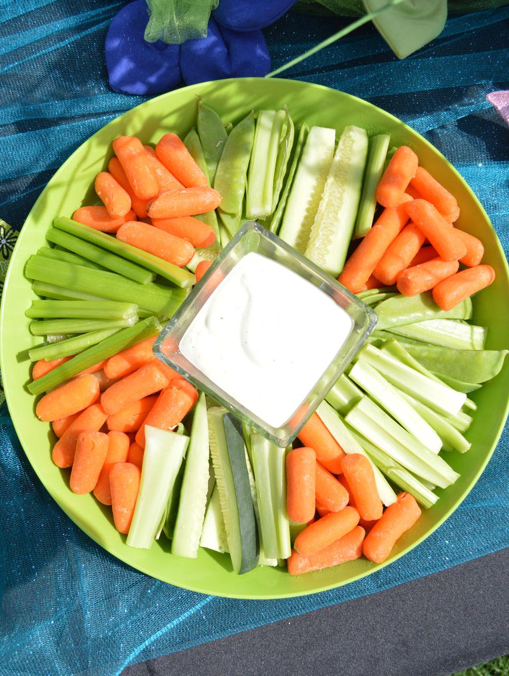 Veggie platter creative kids party treats