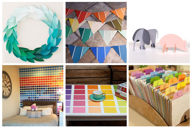 Fabulously Colorful Paint Chip Projects