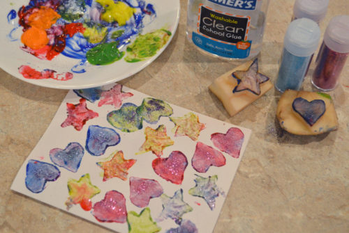 How to make Potato Art Stamps - Mommy Scene
