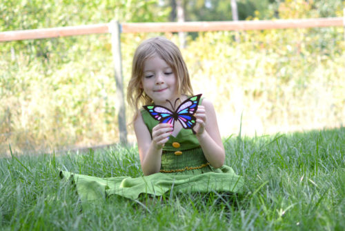 Creative kids activities and tissue paper butterfly sun catchers - Mommy Scene