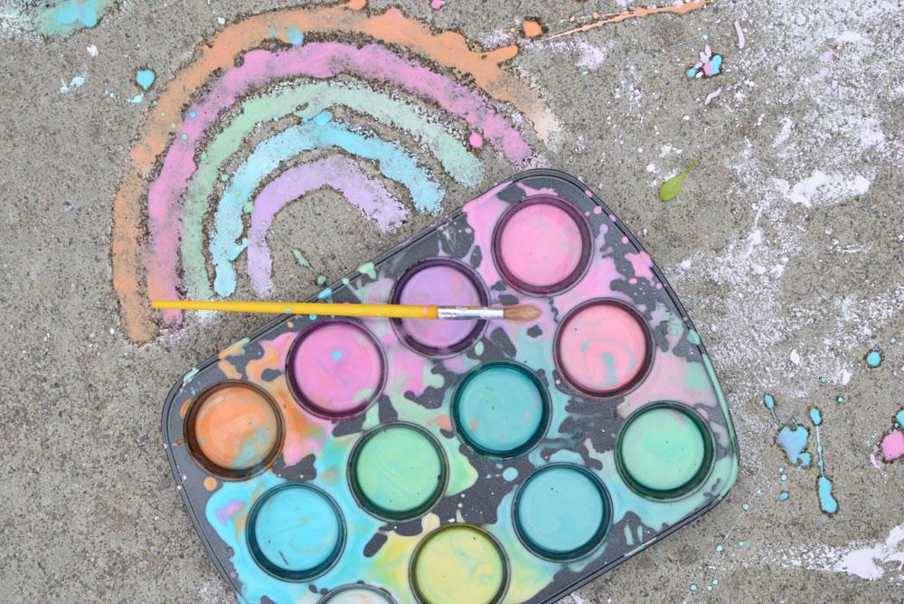 Easy homemade sidewalk chalk paint
