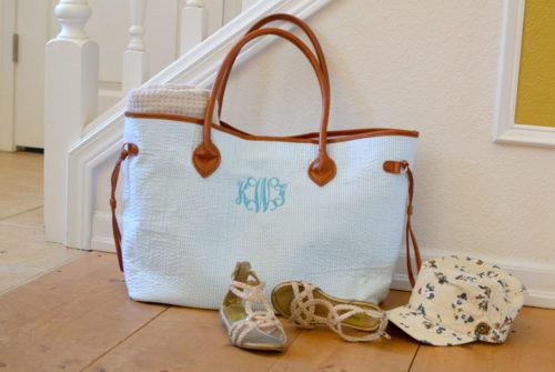 KraftyChix Monogrammed Tote Bag - Mommy Scene