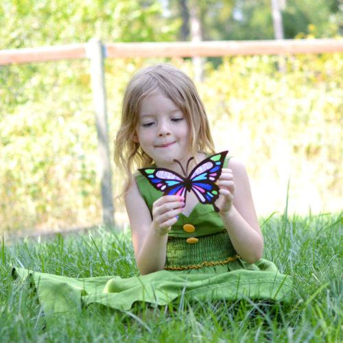 Pretty Tissue Paper Butterfly Sun Catchers