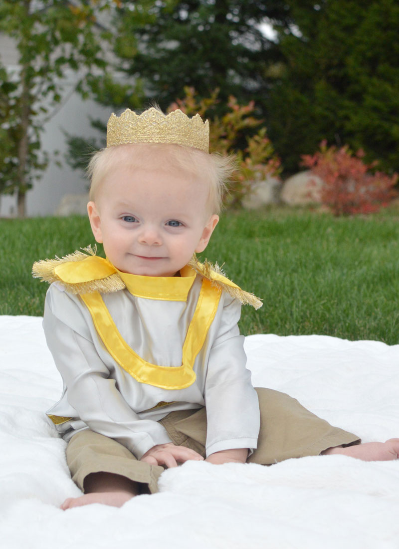 How to make a baby boy Little Prince costume