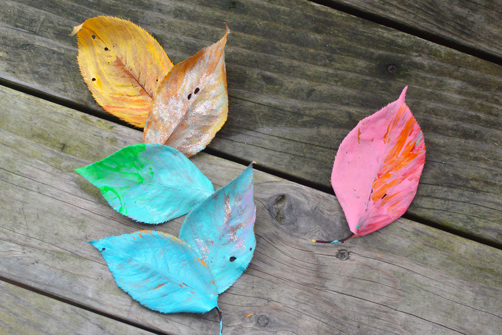 Colorful Leaf Painting Art for Kids