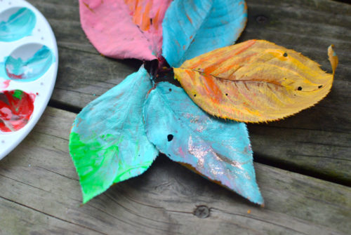 Easy Leaf Painting Art for Kids - Mommy Scene