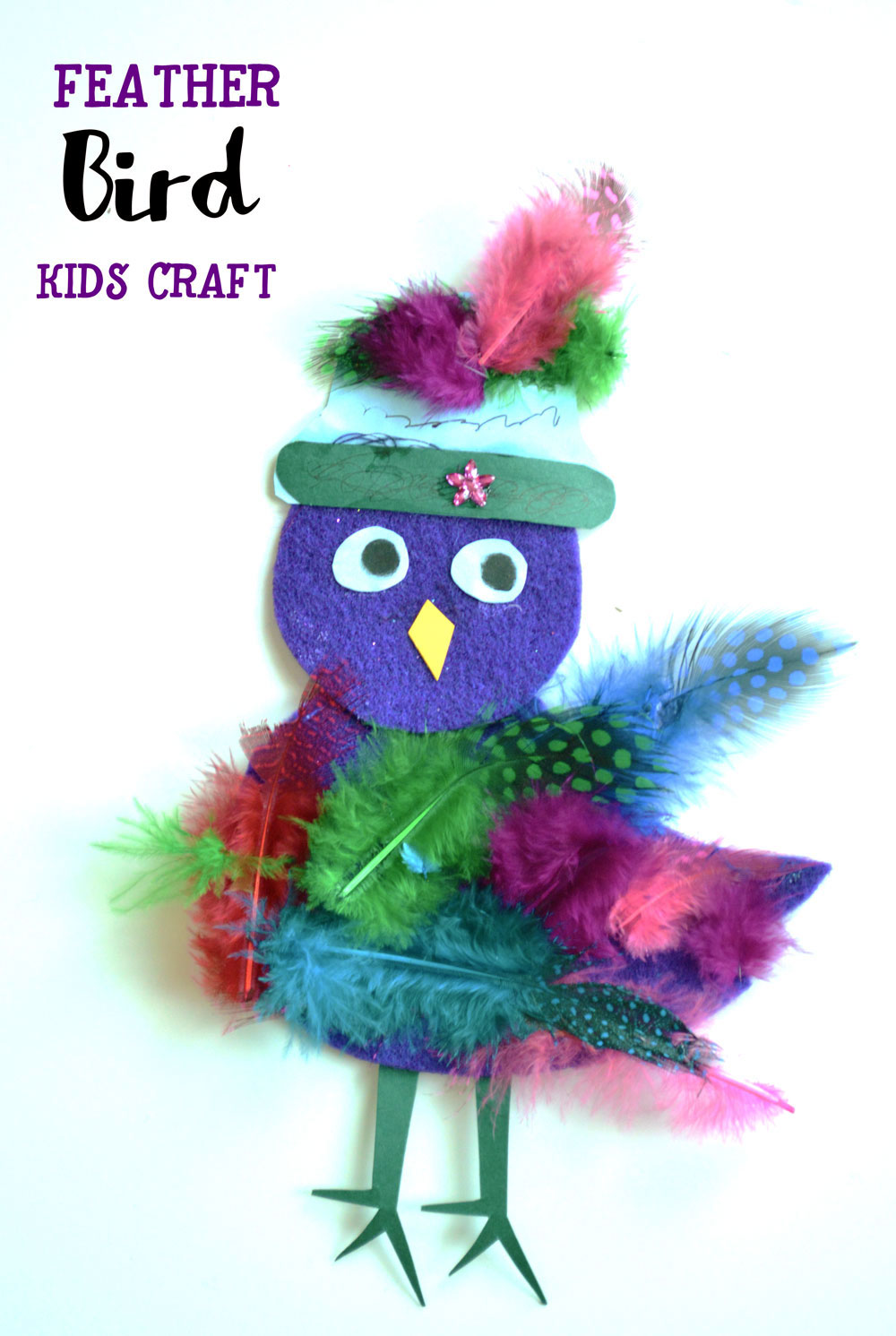 Feather Bird Kids Craft Idea for Preschool