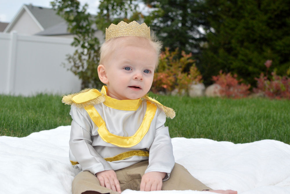 Cute Homemade Prince Charming Baby Halloween Costume