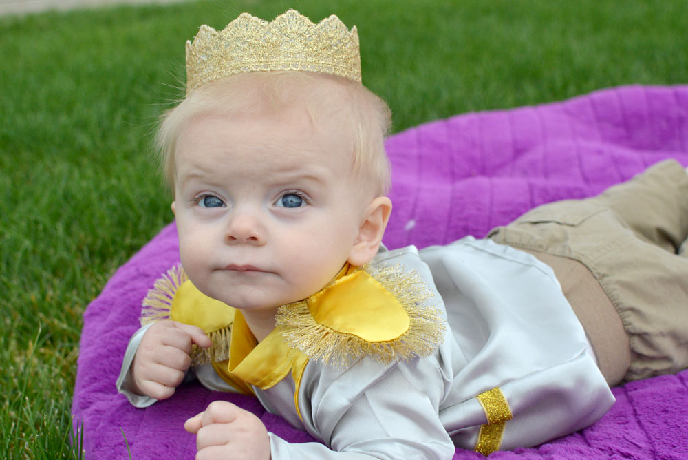 Homemade Prince Charming Baby Halloween Costume