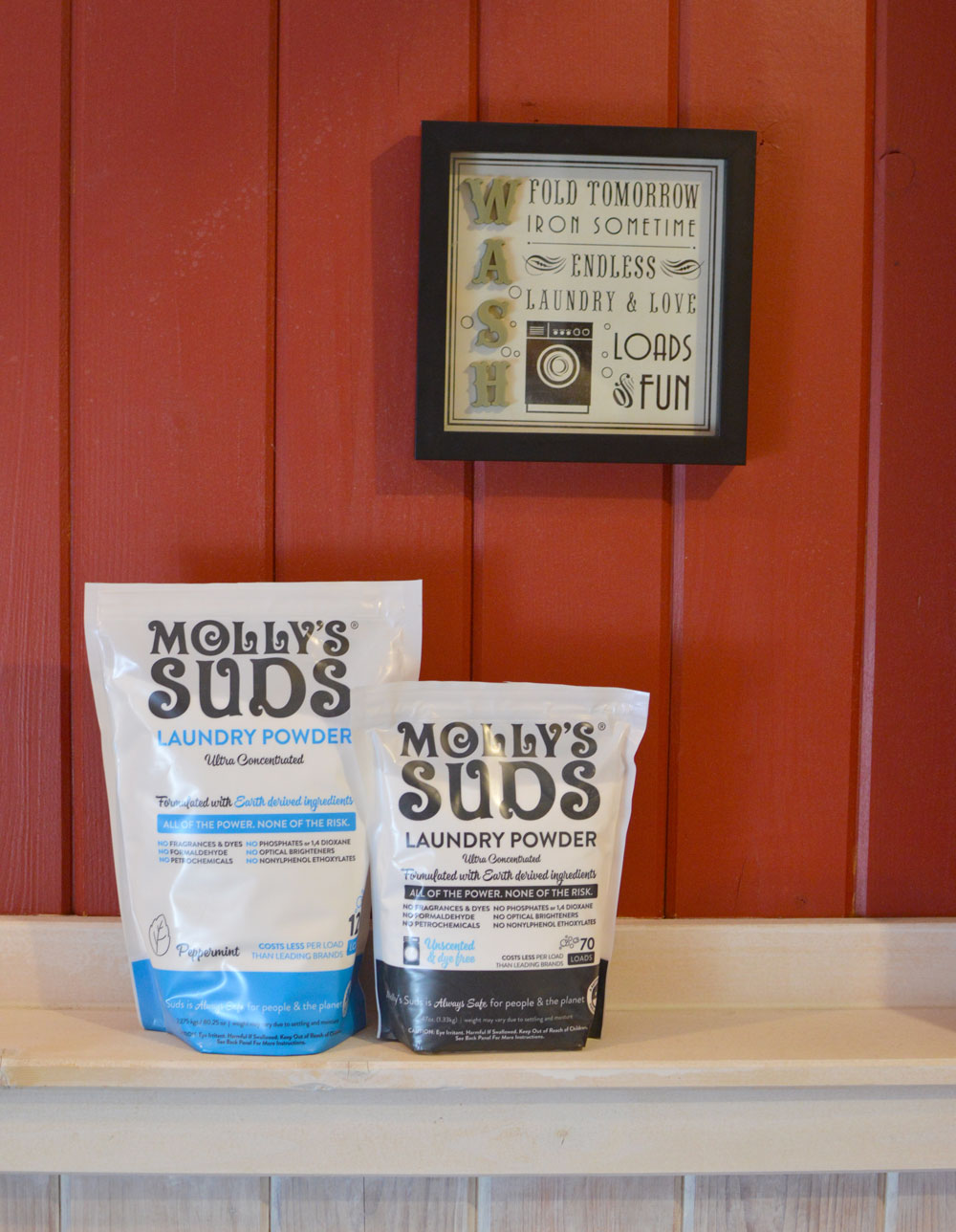 Molly's Suds laundry detergent is safe and effective for the whole family