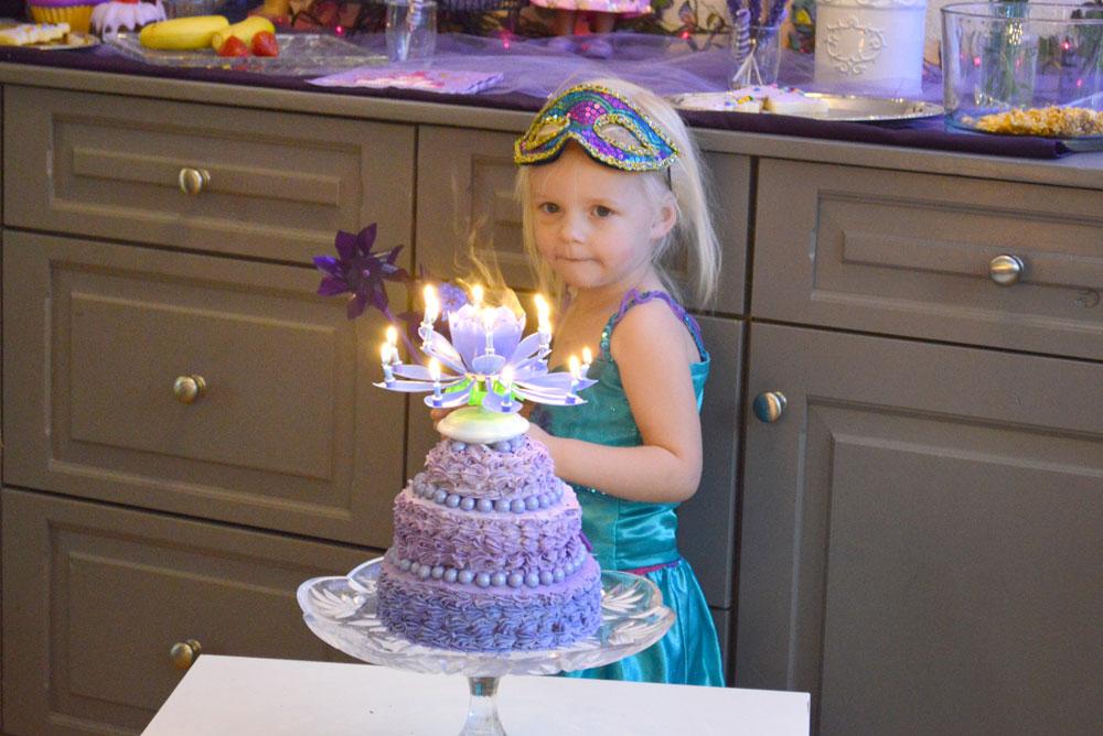 Princess Birthday Party cake candles