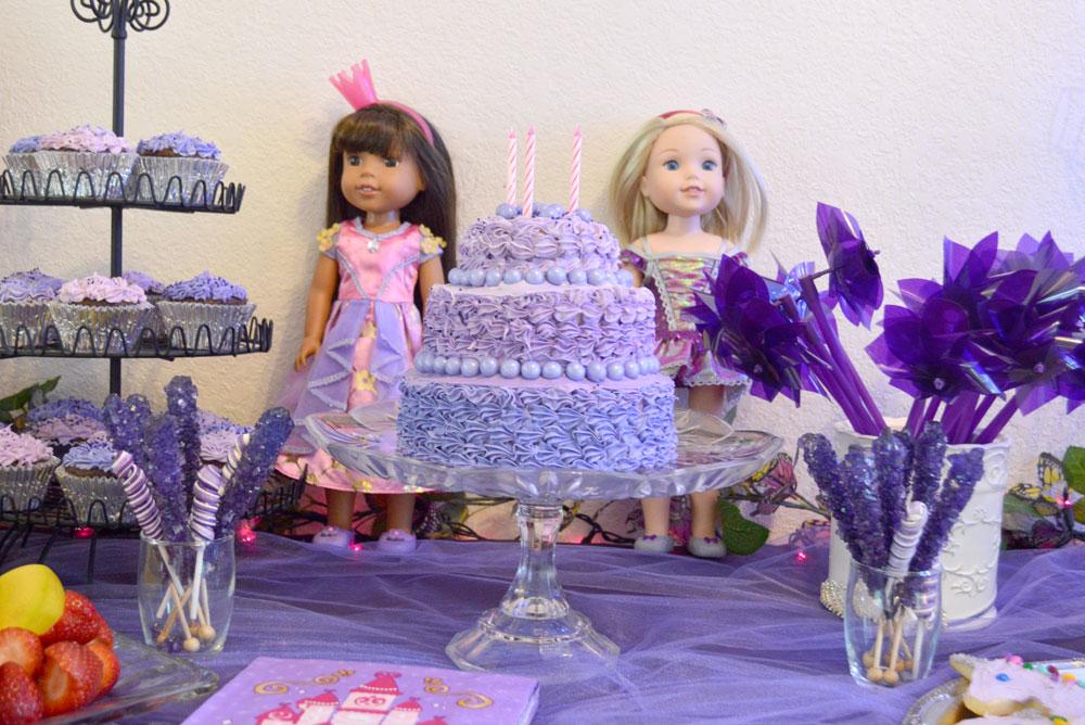 Princess Birthday Party purple ombre cake