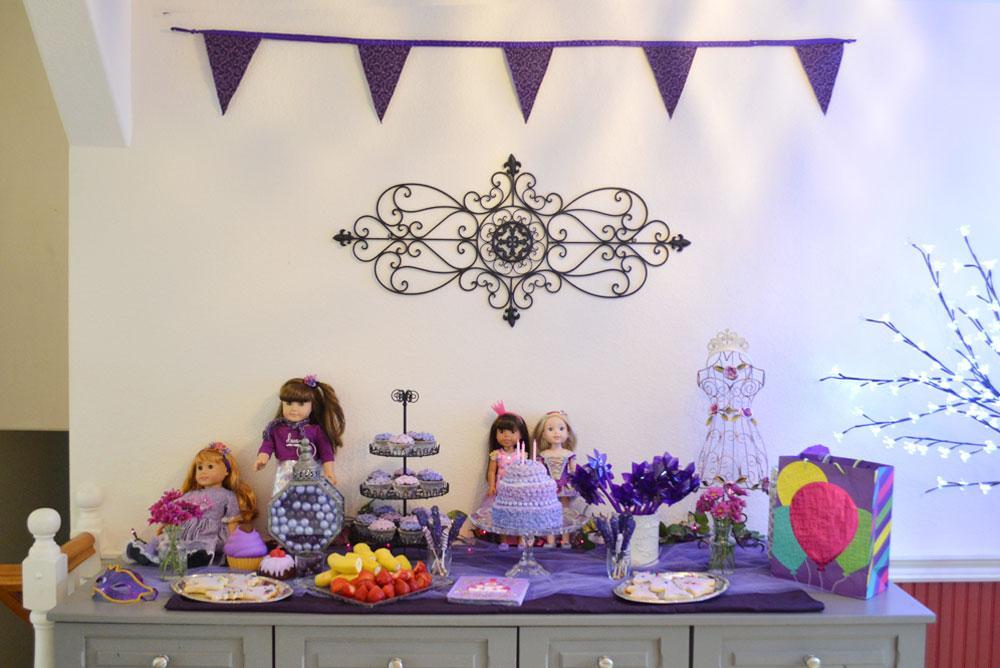 Princess Birthday Party purple theme ideas
