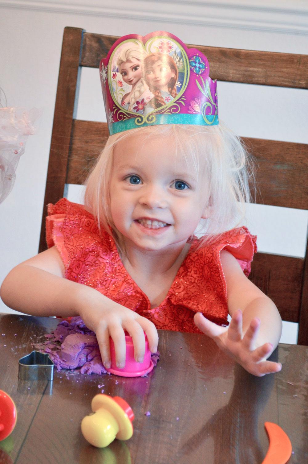 Princess Birthday Party play dough activity