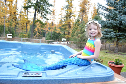 Teach Kids to Love Water with a Mermaid Tail - Mommy Scene