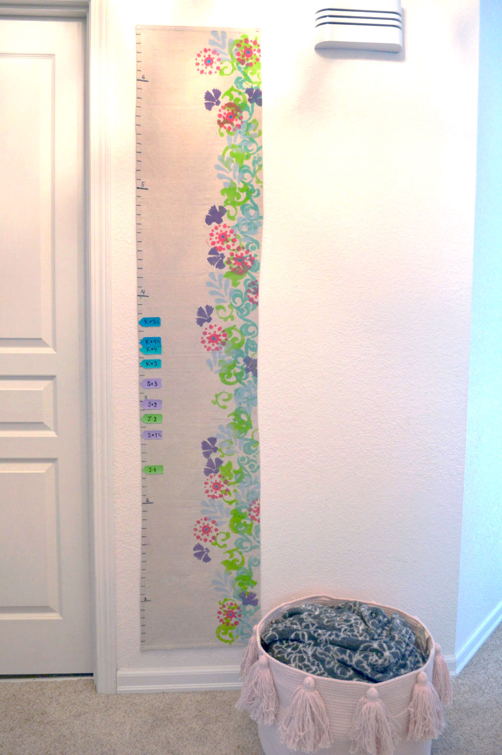 Artsy DIY Kids Growth Chart