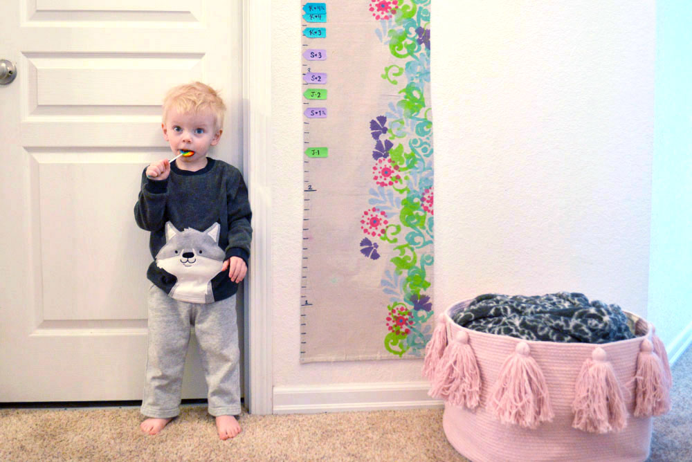 DIY Canvas Growth Chart for Kids wall decor