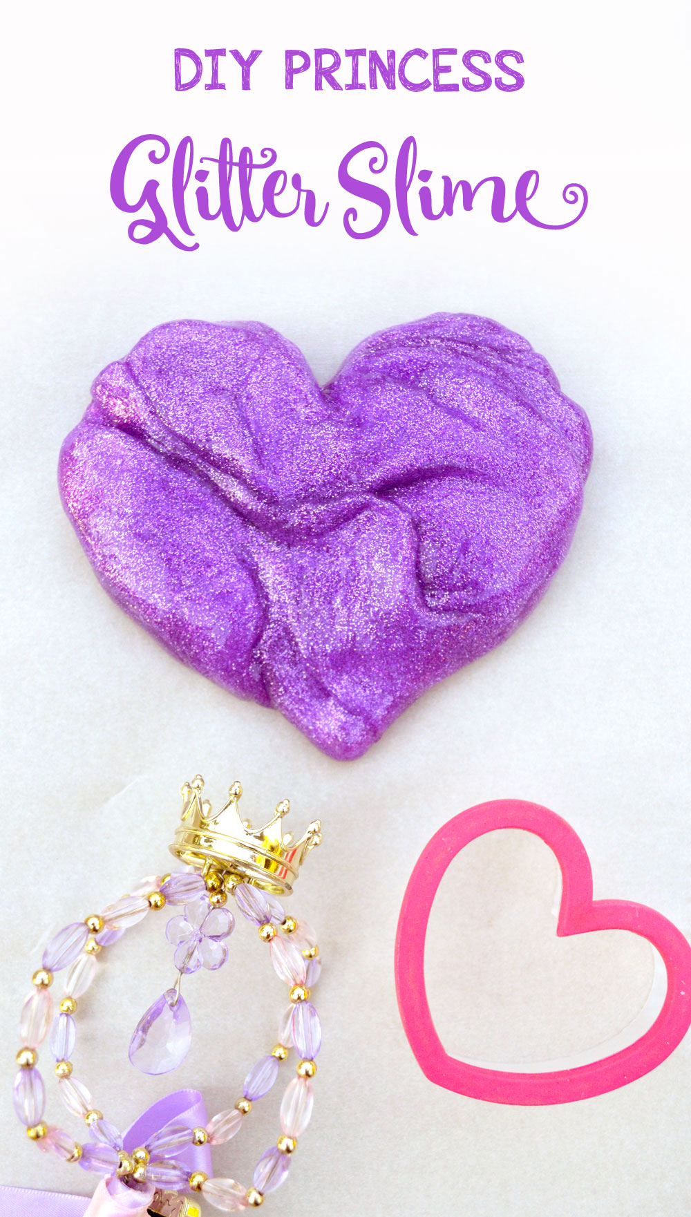 Homemade glitter slime for kids with no borax
