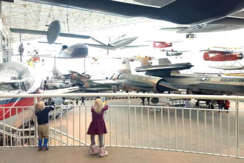 Seattle Museum of Flight airplane exhibit - Pacific Northwest family trip