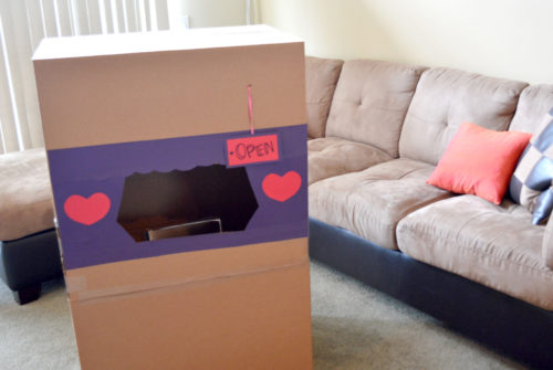 DIY Valentine's Day Post Office from a box - Mommy Scene