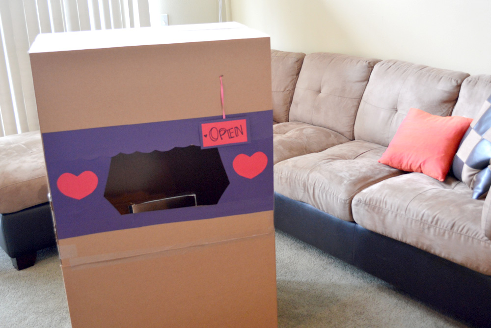 DIY Valentine's Day Post Office from a box