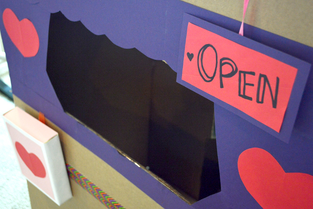 Valentine's Day post office kids project