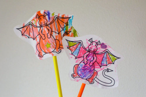 Paper Dragon Puppets & Dragon Chow Snack