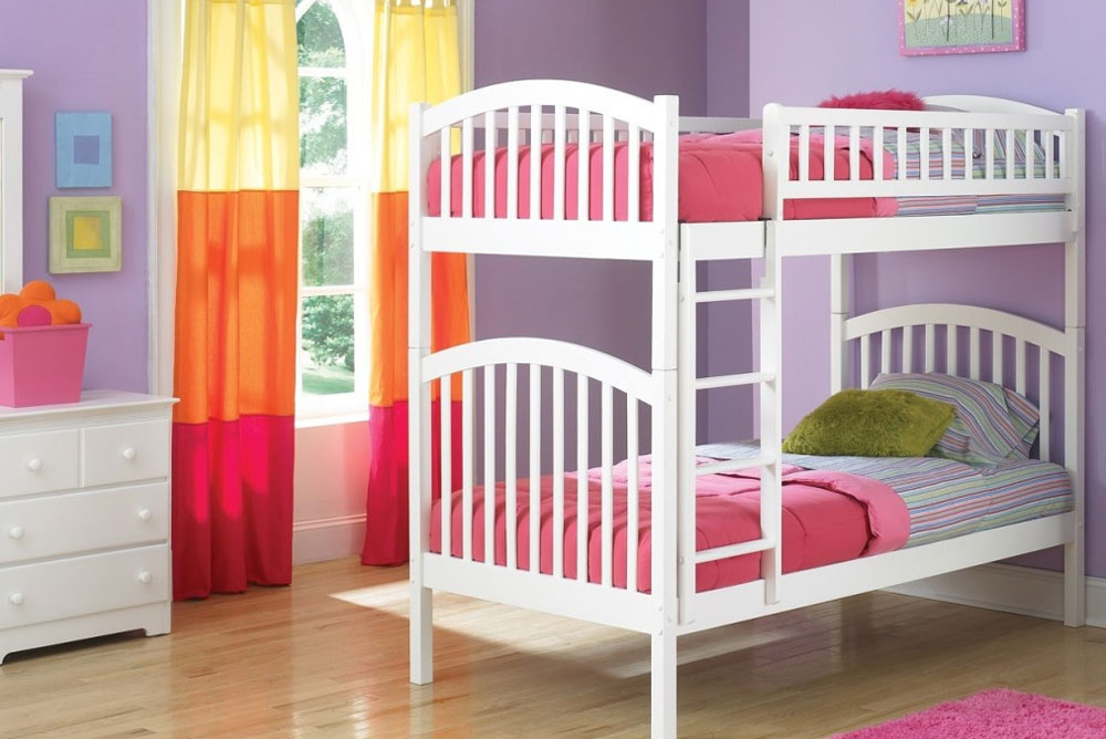 Cute Kids Room add color with bright curtains