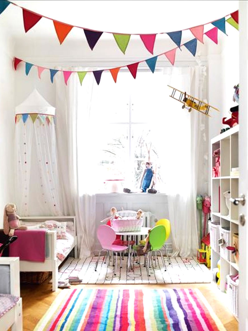 Cute Kids Room colorful pennant banner
