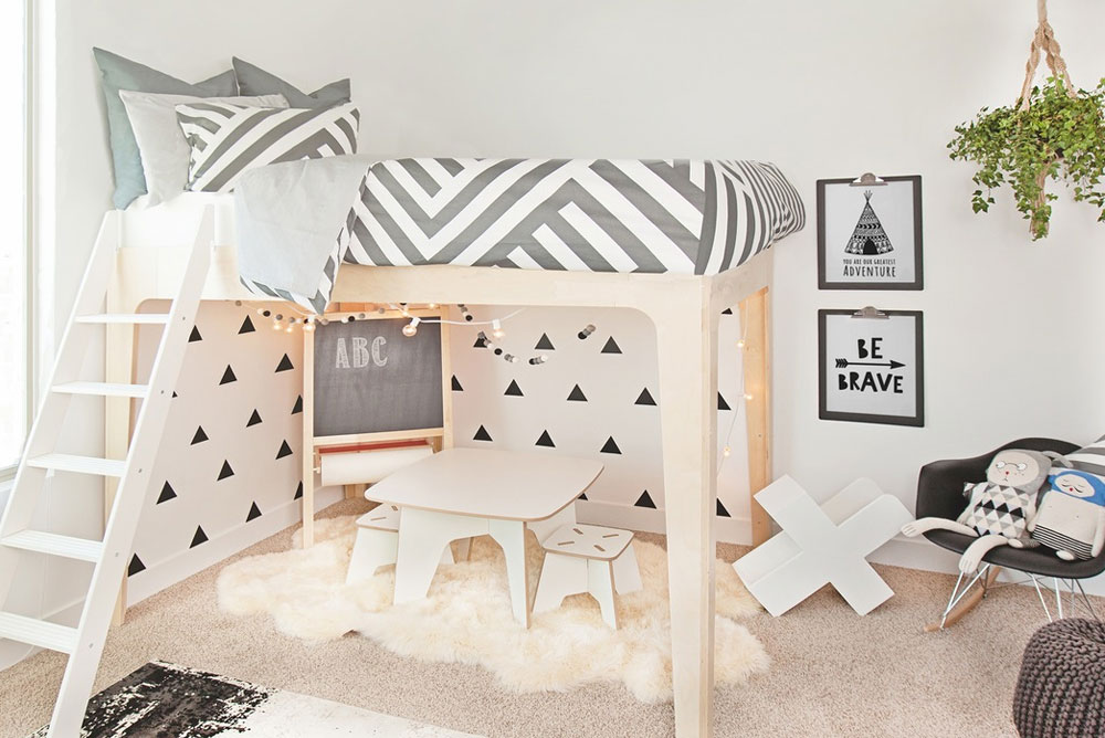 Cute Kids Room add color with modern prints